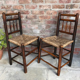 Pair of 18th Century Elm & Ash Country Chairs - Front & Side View - 7