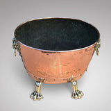 19th Century Copper Jardiniere with Lion Mask Handles - Main View - 2