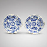 Pair of Ridgway Blue & White Fluted Edged Dishes - Main View - 1