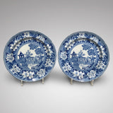 Pair of 19th Century Blue & White Plates - Main View - 1