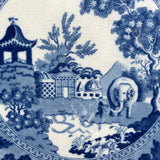 Pair of 19th Century Blue & White Plates - Pattern Detail View - 4