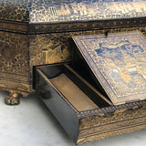 19th Century Chinoiserie Lacquered Sewing Chest - Inside Drawer Side View - 5