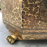 19th Century Chinoiserie Lacquered Sewing Chest - Foot Detail View - 9