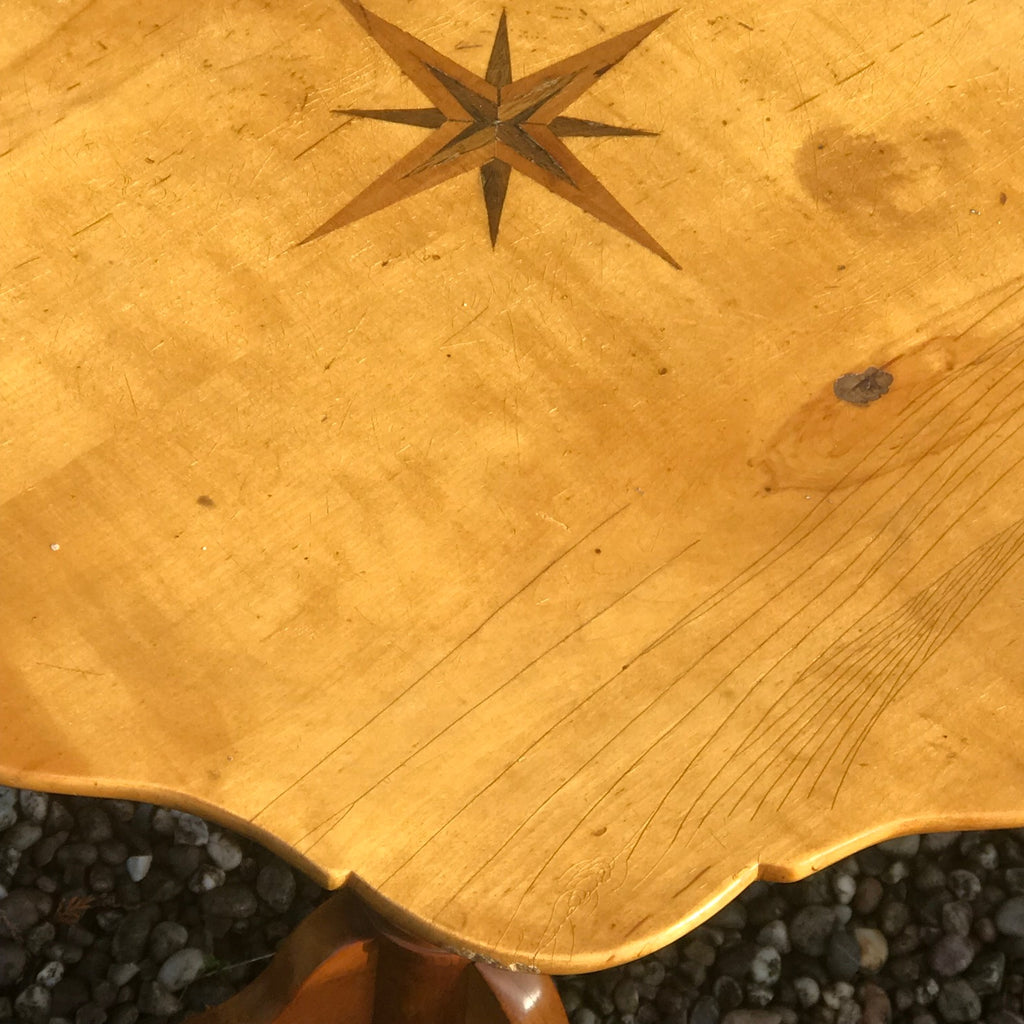 19th Century Swedish Tilt Top Table - Detail  View - 3