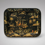 19th Century Papier Mache Chinoiserie Tray - Front View - 1