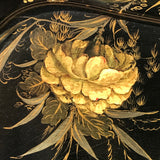 Large Victorian Double Rimmed Papier Mache Tray - Detail View - 8