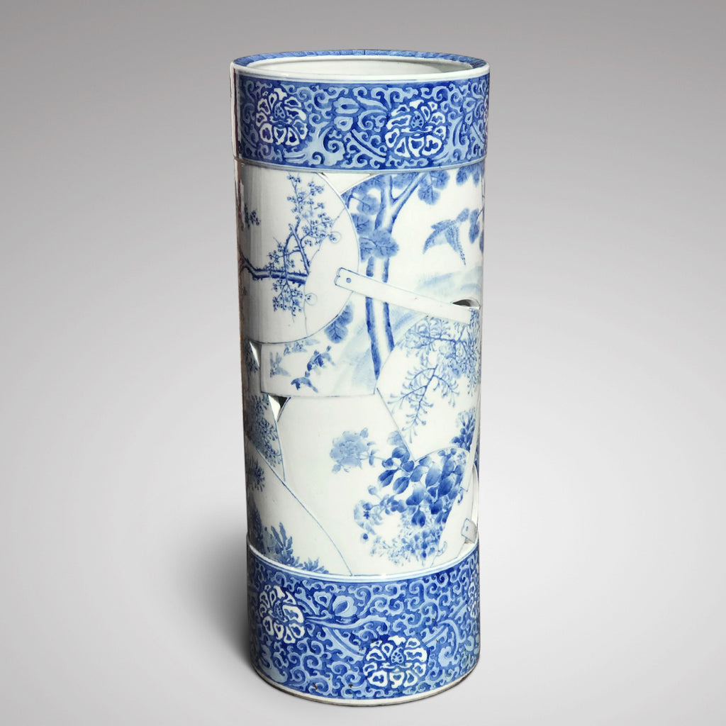 Japanese Blue & White Stick Stand - Main View - 3