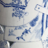 Japanese Blue & White Stick Stand - Detail View - 5