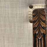 19th Century Open Armchair in the 18th Century Style - Carving & Fabric Detail -4