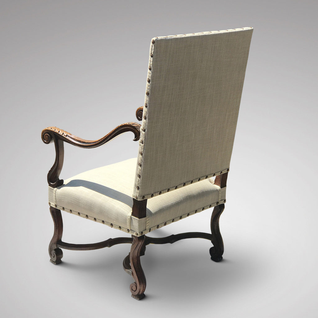 19th Century Open Armchair in the 18th Century Style - Back & Side View -2