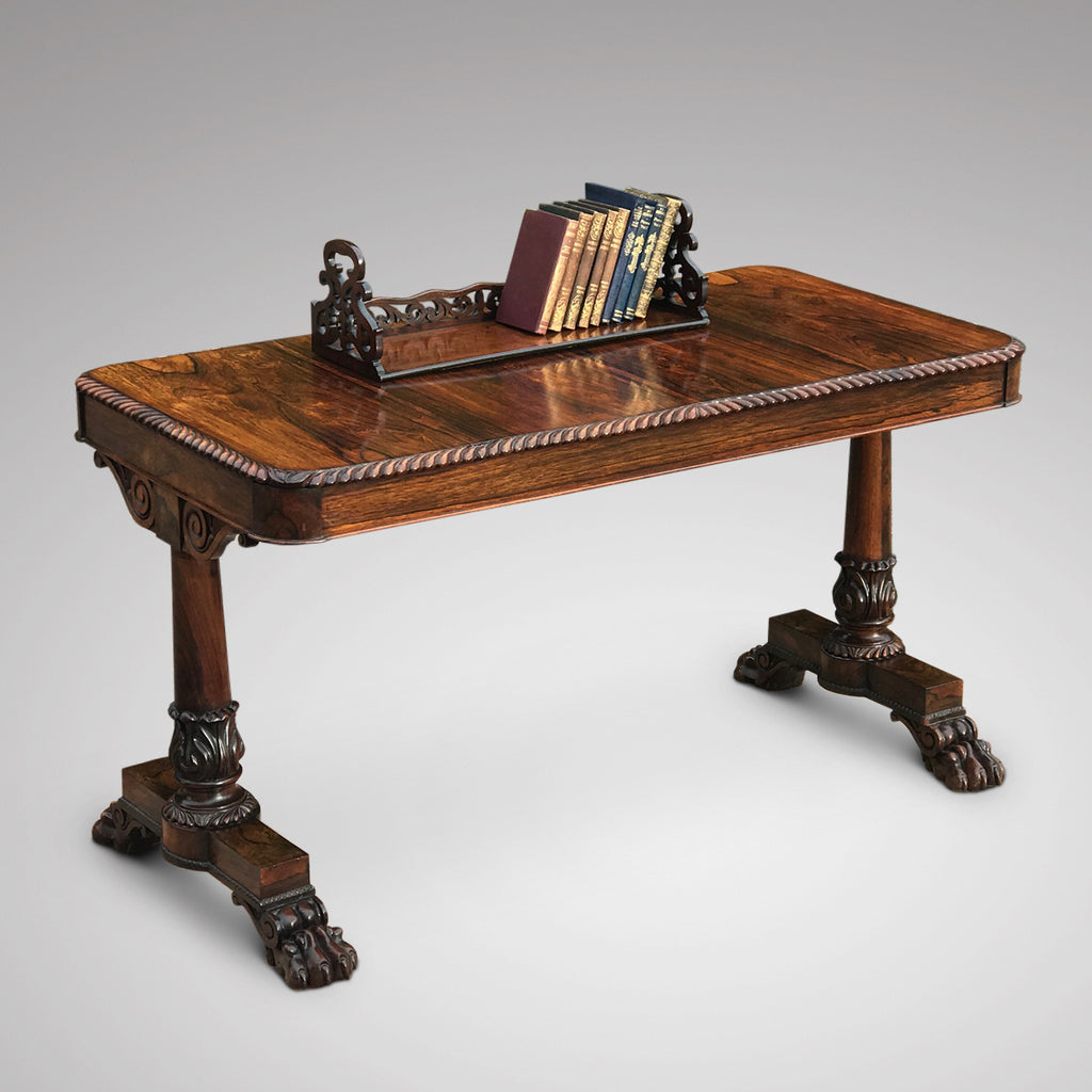 19th Century Rosewood Book Trough - Main View - 2