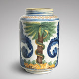 18th Century Italian Tin Glazed Dry Drug Jar - Main View - 1