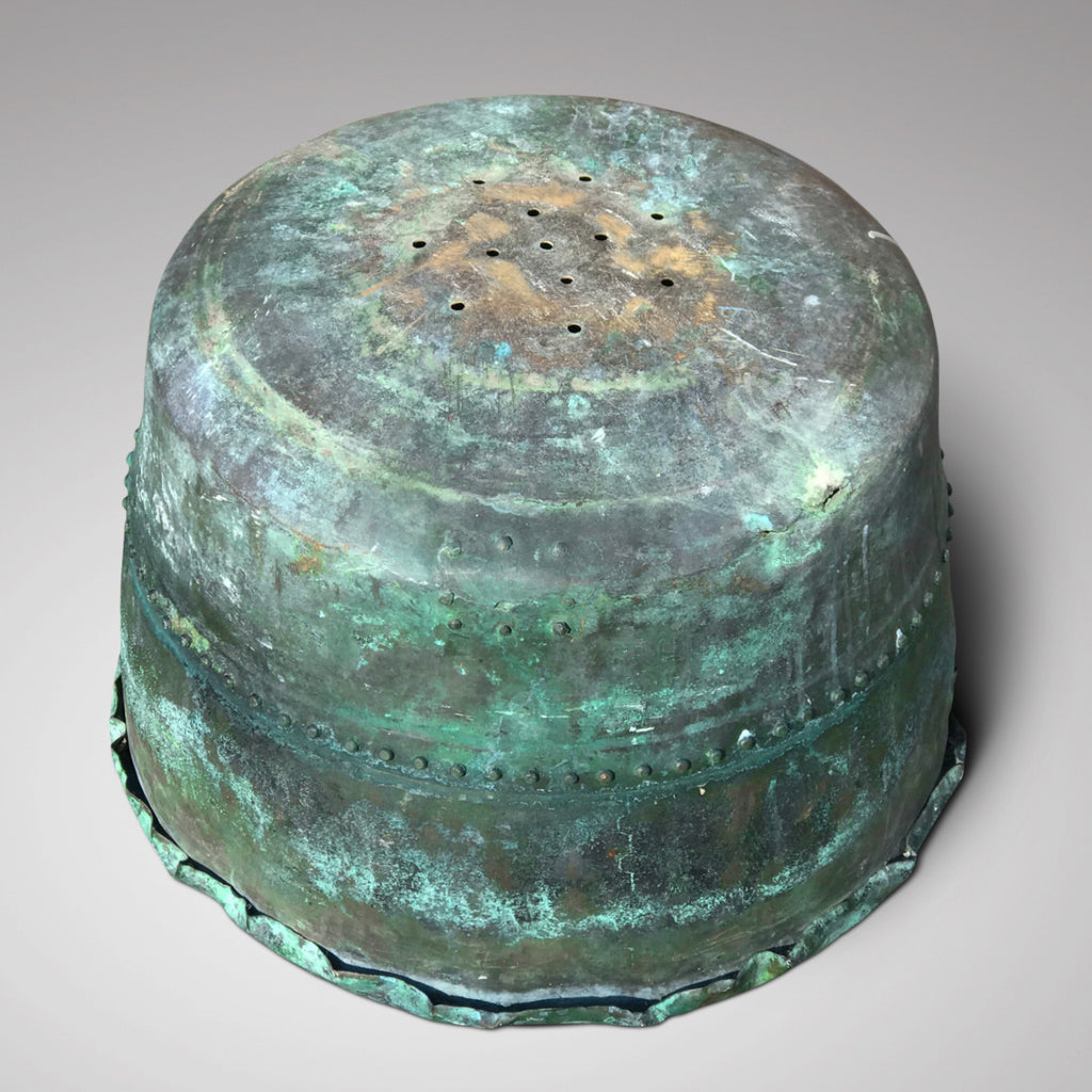 19th Century Riveted Copper Copper - Underside View - 2