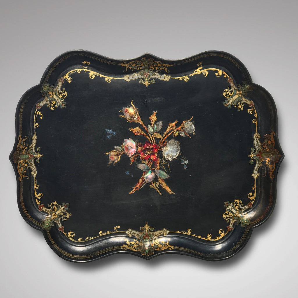 19th Century Papier-Mache Tray on Later Stand - Main View - 3