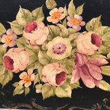 19th Century Rose Painted Toleware Tray - Detail View - 2