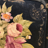 19th Century Rose Painted Toleware Tray - Detail View - 3