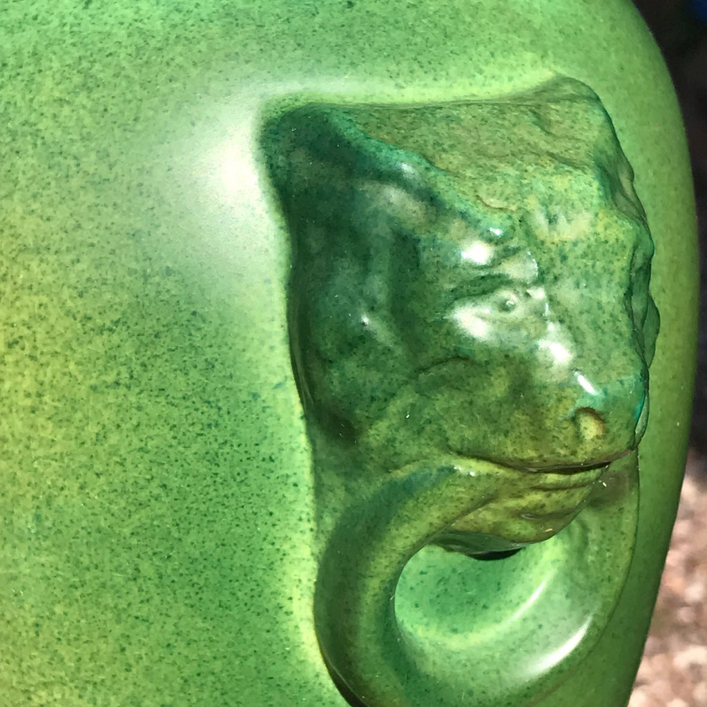 Pair of Green Ceramic Table Lamps - Detail View - 4
