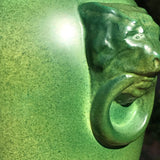 Pair of Green Ceramic Table Lamps - Detail View - 6