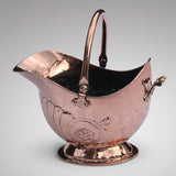 Superb Victorian Copper Coal Scuttle - Main View - 1