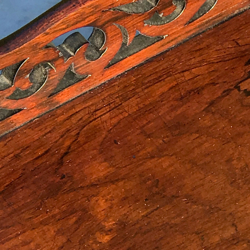 19th Century Rosewood Book Trough - Detail  View - 4