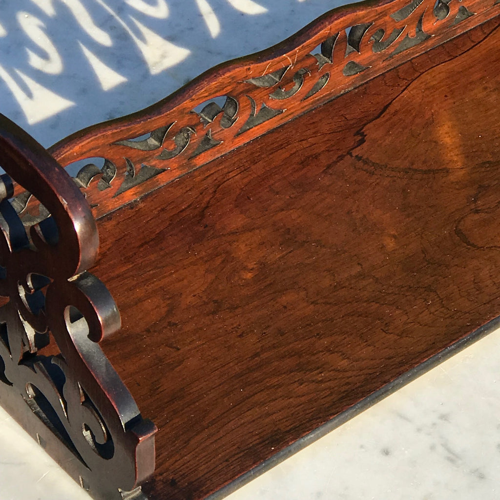 19th Century Rosewood Book Trough - Detail  View - 3