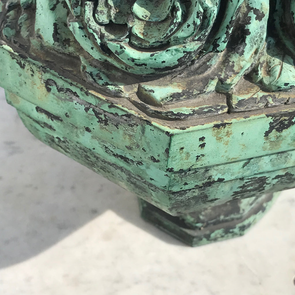 19th Century Bronze Sculpture of Vase of Roses - Detail View - 3