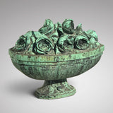 19th Century Bronze Sculpture of Vase of Roses - Main View - 1