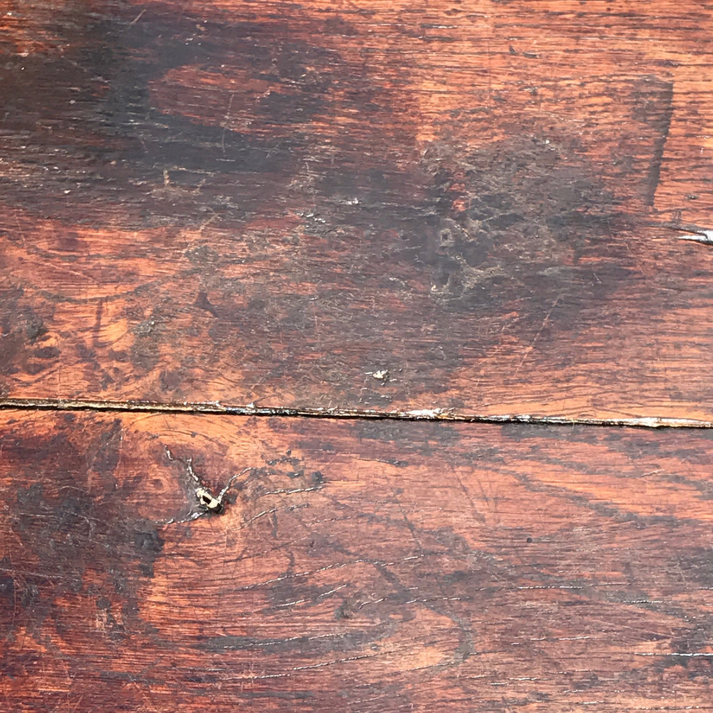 17th Century Oak Serving/Side Table - Top Detail View - 5