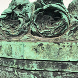 19th Century Bronze Sculpture of Vase of Roses - Detail View - 7