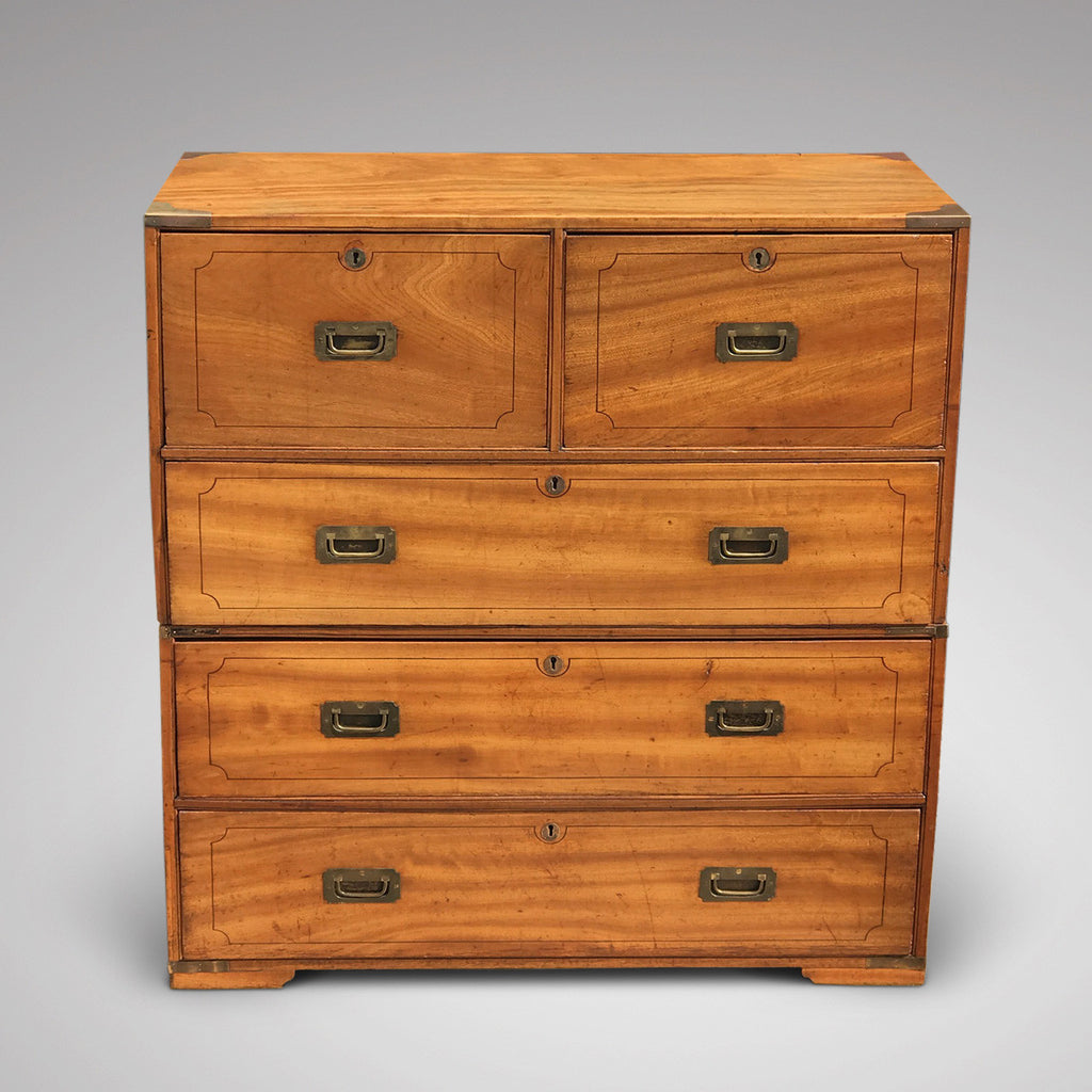 19th Century Camphor Wood Campaign Chest - Main Front View - 2