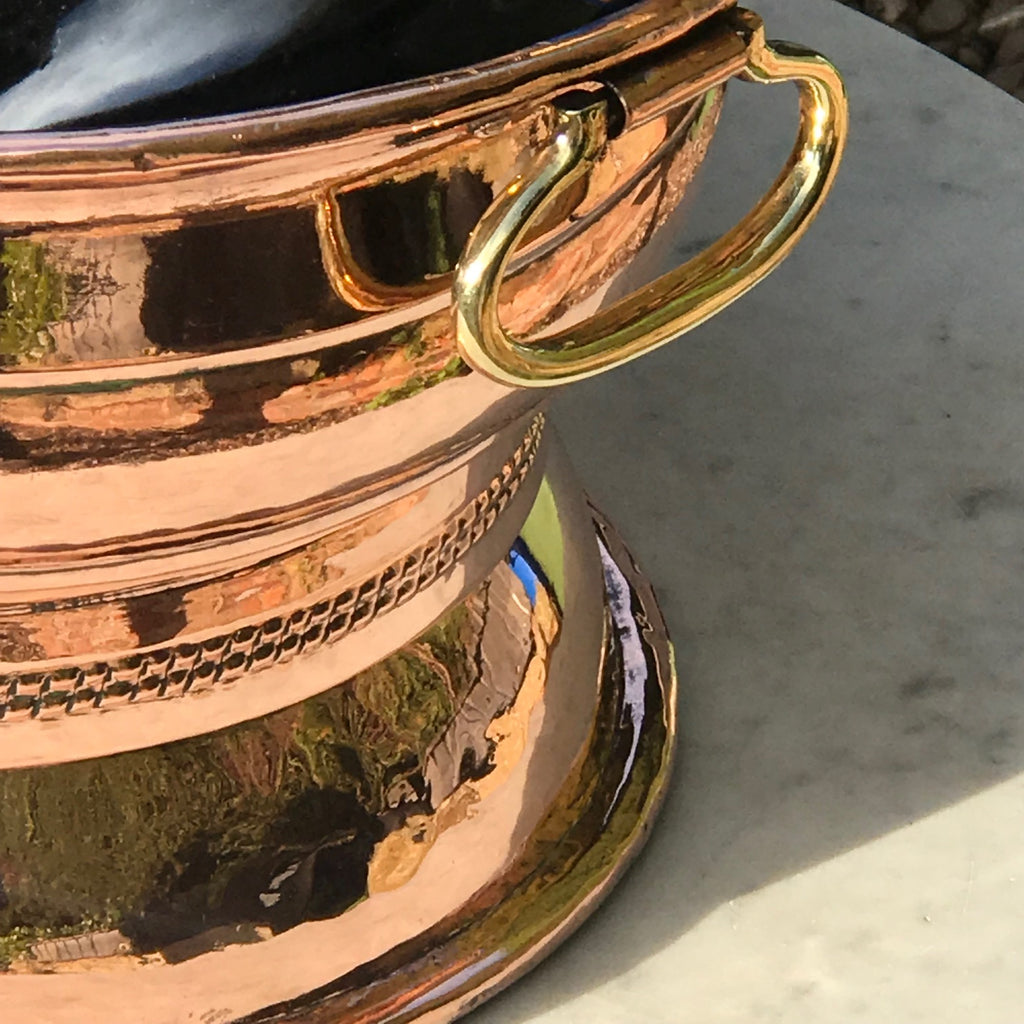 19th Century French Copper Wine Cooler - Detail View - 3