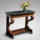 19th Century French Mahogany Console Table - Main View - 1