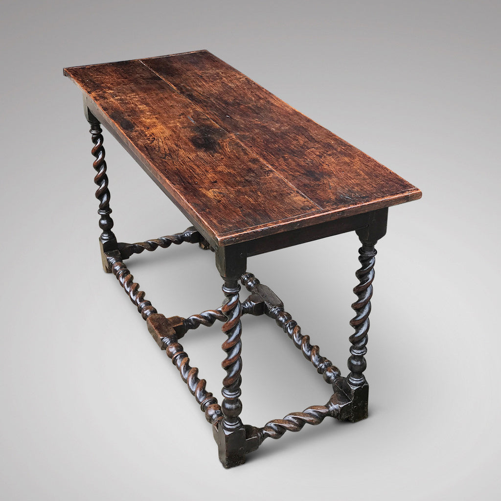 17th Century Oak Serving/Side Table - Back and Side View - 2