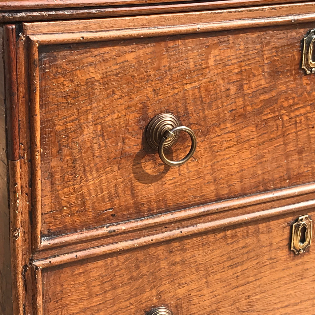 Small Early 19th Century Oak Coffer with Dummy Drawers - Detail View - 4
