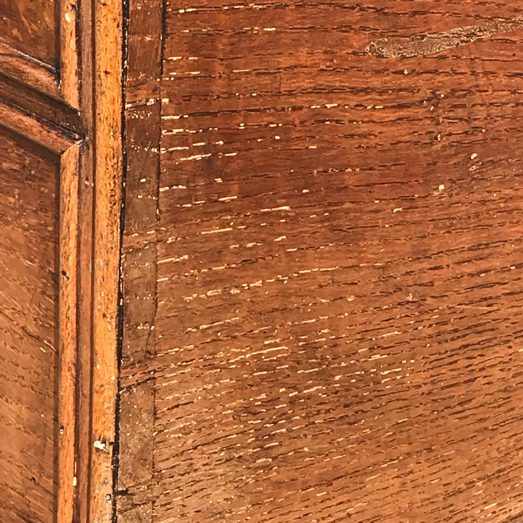 Small Early 19th Century Oak Coffer with Dummy Drawers - Detail View - 6