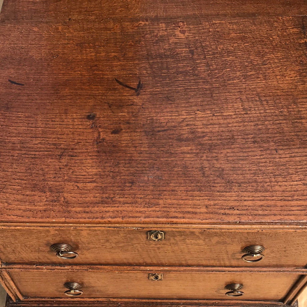 Small Early 19th Century Oak Coffer with Dummy Drawers - Detail View - 7