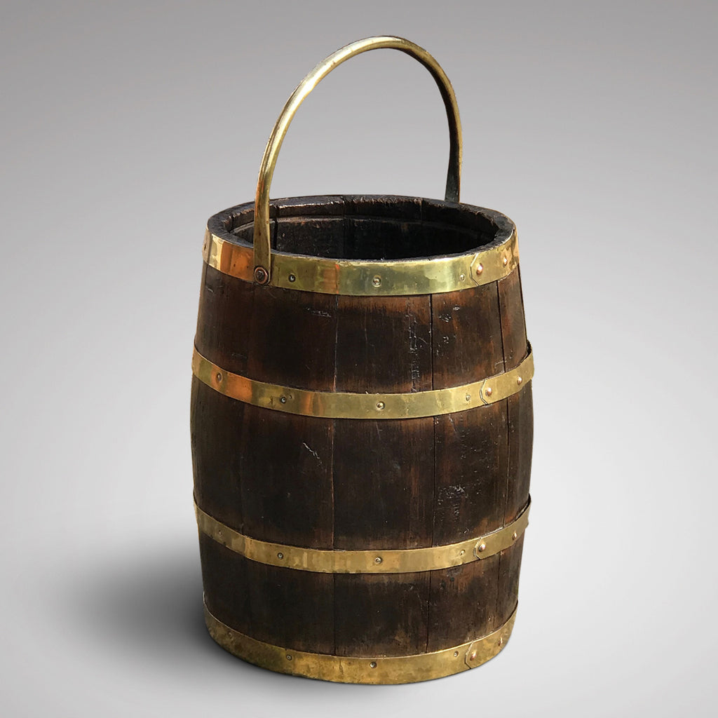 19th Century Oak Coopered Barrel - Main View - 1