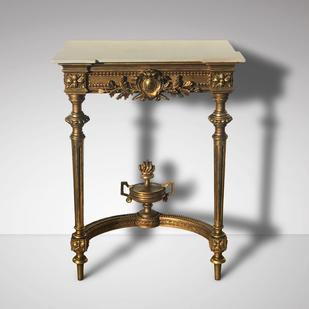 19th Century Giltwood Console with Marble Top - Main View - 2