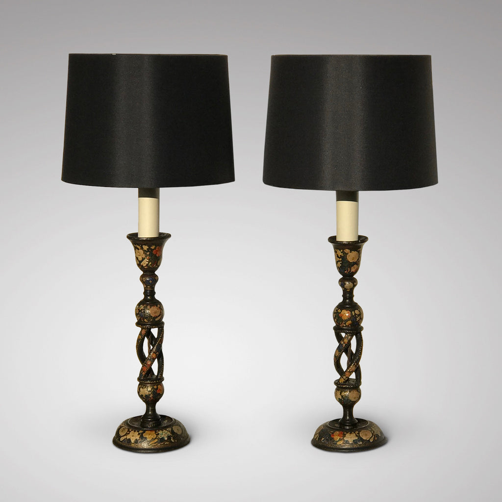 Pair of 19th Century Kashmiri Table Lamps - Main View - 1