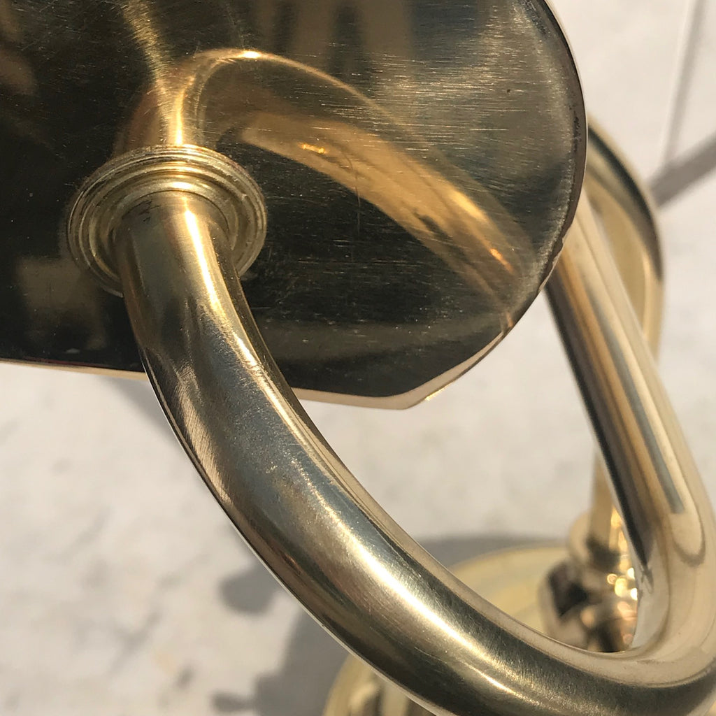 Early 20th Century Adjustable  Brass Desk Lamp - Detail View - 4