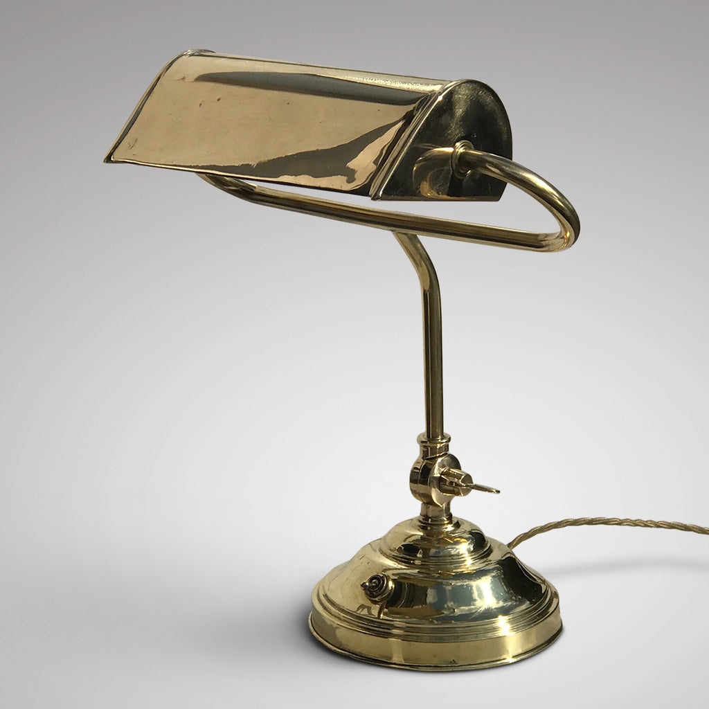 Early 20th Century Adjustable  Brass Desk Lamp - Main View - 1