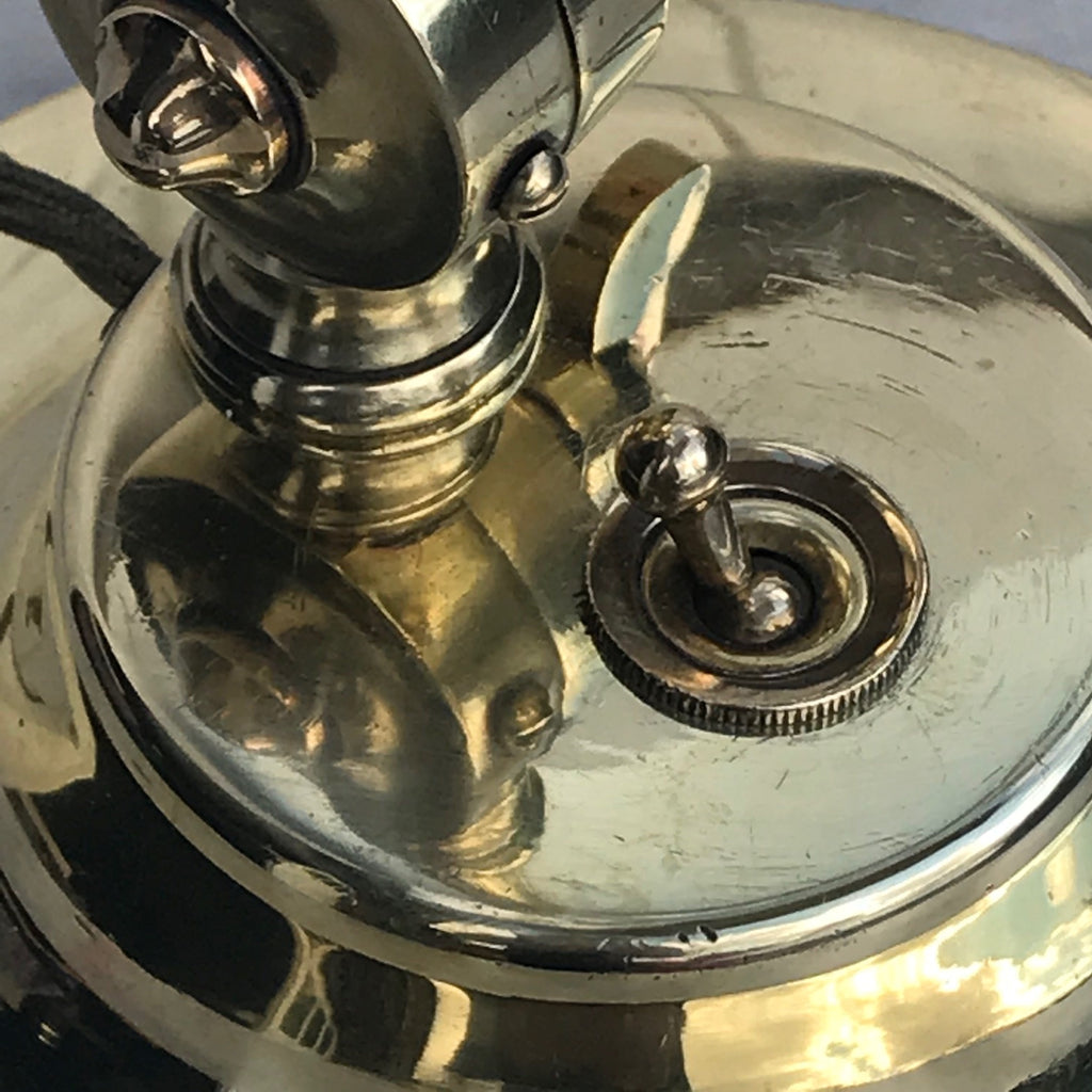 1920's Adjustable Brass Desk Lamp - Detail View - 3