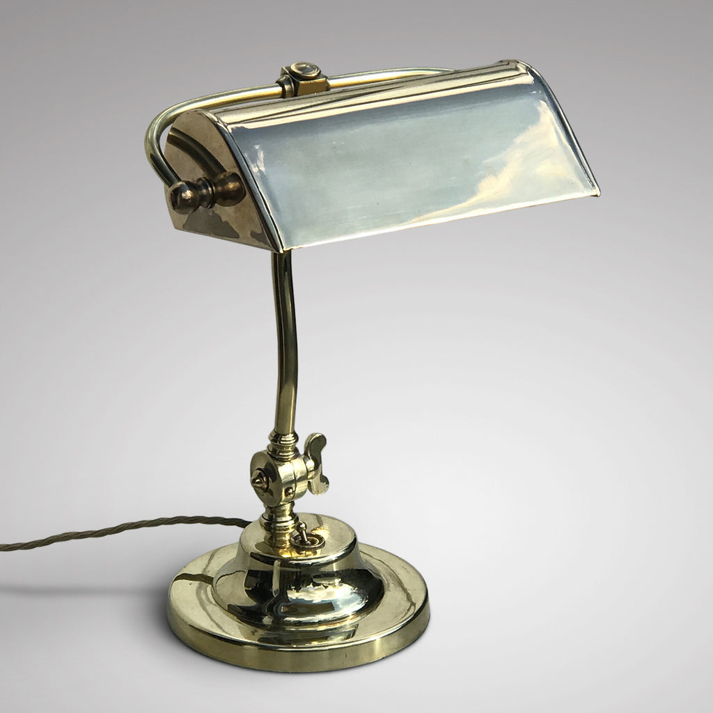 1920's Adjustable Brass Desk Lamp - Main View - 1