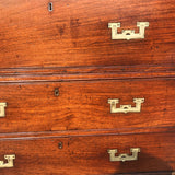 Small 19th Century Teak and Brass Two Part Campaign Chest - Detail View - 6