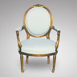 19th Century French Giltwood Armchair - Main Front View - 1