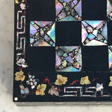 19th Century Mother of Pearl Chessboard with Backgammon Interior - Detail View - 7