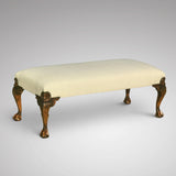 Early 20th Century Upholstered Long Stool