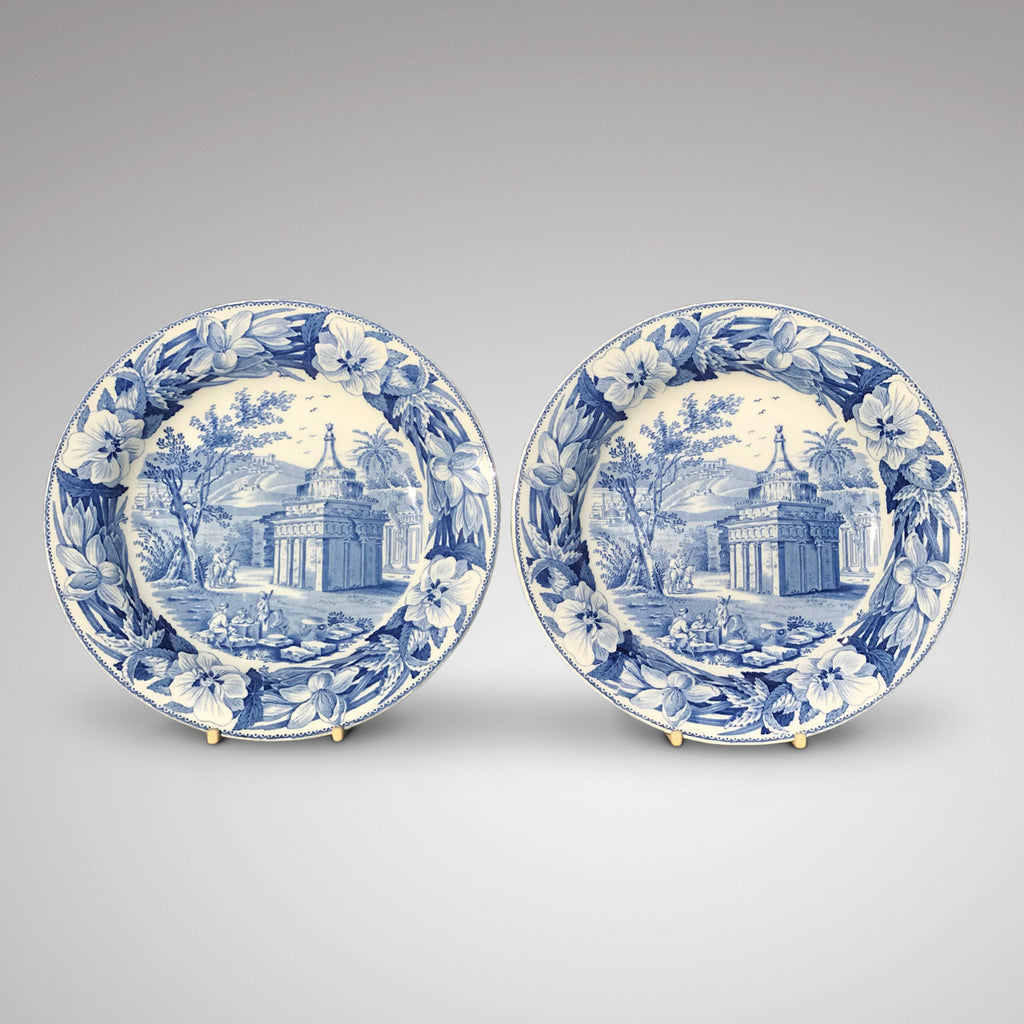 Pair of early 19th Century Wedgwood blue & white plates - Main View - 1
