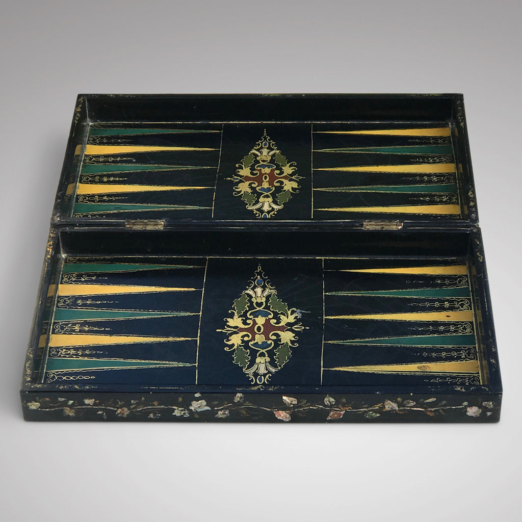 19th Century Mother of Pearl Chessboard with Backgammon Interior - Main View - 4