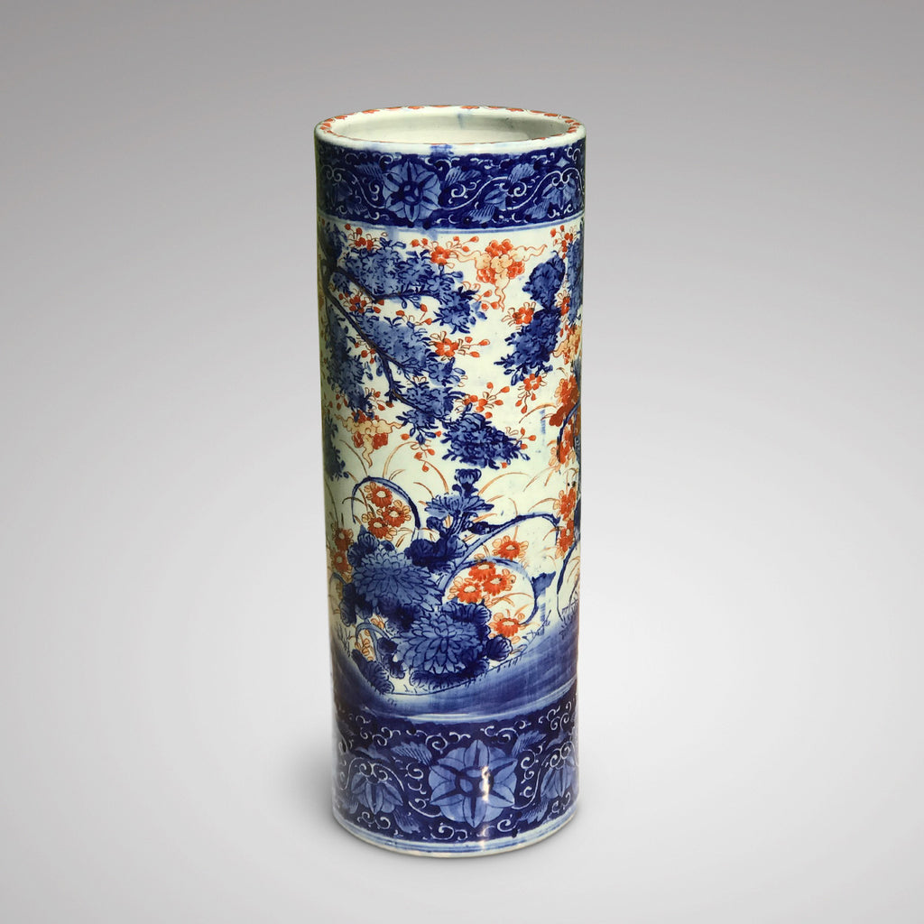Meiji Period Japanese Porcelain Stick Stand